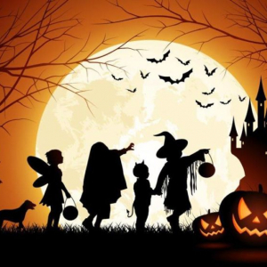 Halloweenský prázdninový den s dýní